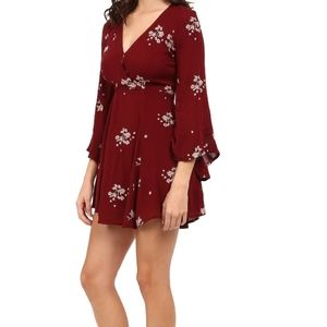 Free People Jasmin Floral Embroidered Dress